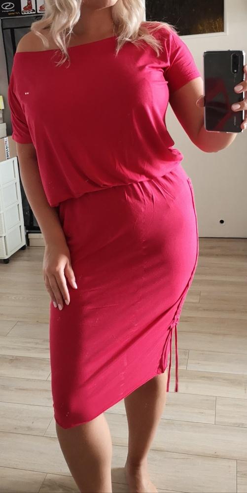 Manilla sukienka regulowana elastyczna 40 42 malinowa