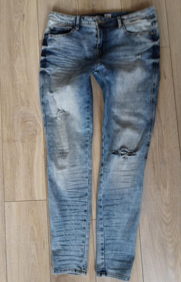 Sinsay spodnie jeansowe dziury skinny 38 40