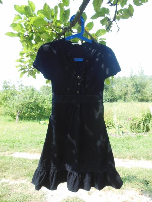 Oasis czarna sztruksowa sukienka mini 34...