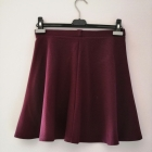 Rozkloszowana elegancka spódnica New Look 36 S burgund