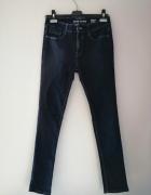 Granatowe jeansy stretch River Island skinny rurki 26 30...