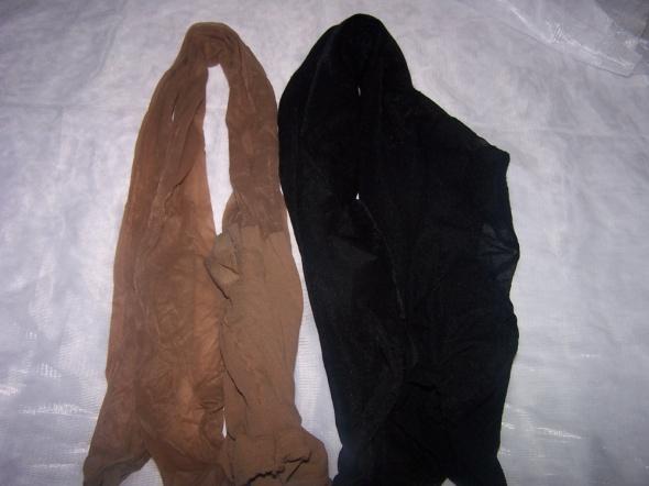 Rajstopy, pończochy Rajstopy używane 2 pary czarne i beżowe