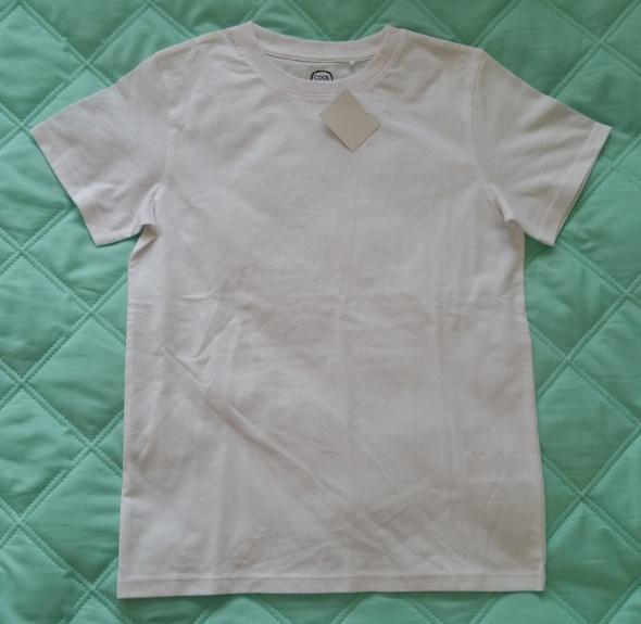 Koszulki, podkoszulki GŁADKA BIAŁA KOSZULKA BASIC