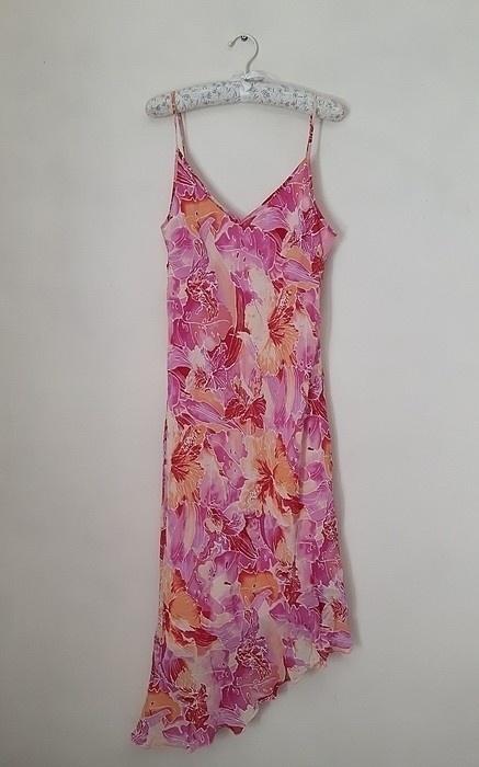 sukienka na ramiączkach kwiaty...