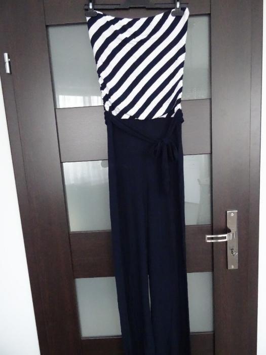 Długi kombinezon szerokie nogawki rozmiar 36