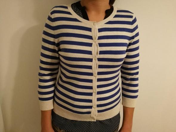 sweterek w paski na guziki S H&M