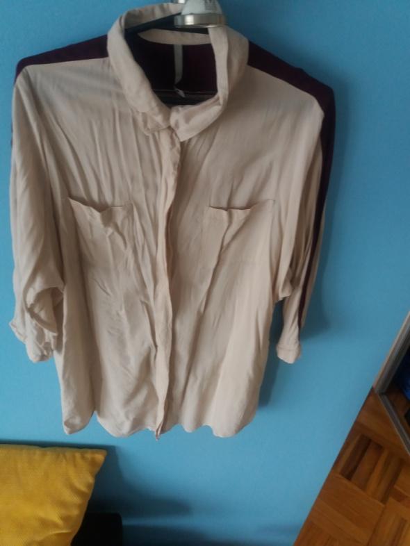 Koszula oversize beżowa