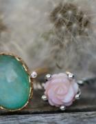 Pandora z koralem różowym i grecki zielony amazonit