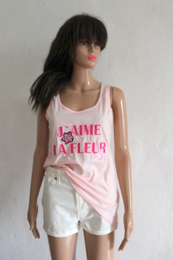 Różowa bluzka na ramiączkach r XS