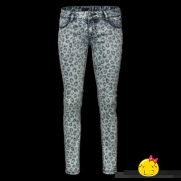 Nowe panterkowe jeansy xs