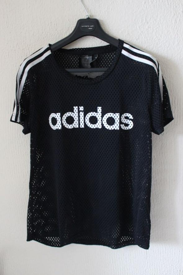czarna koszulka adidas L...
