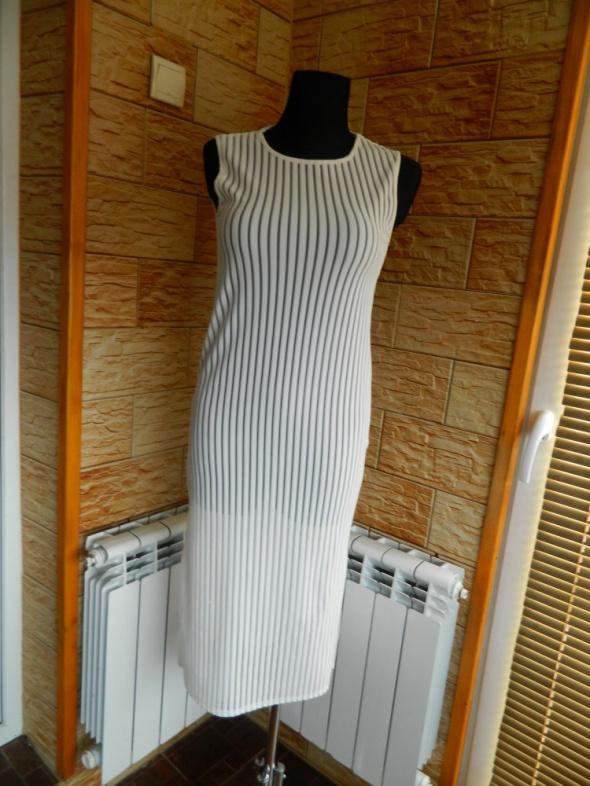 FIGA plażowa sukienka tunika paski roz 36