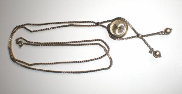 Naszyjnik z zegarkiem Anker 1000 srebro złocone 835