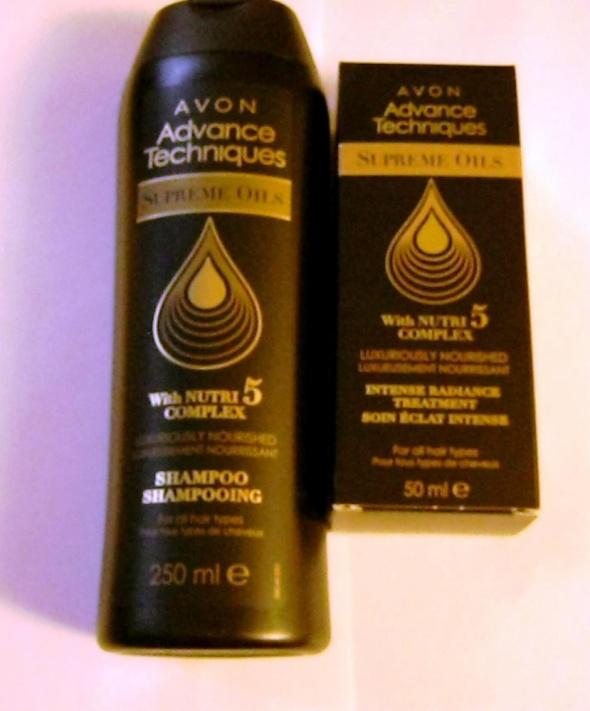Avon NUTRI 5 szampon i kuracja dodająca blasku