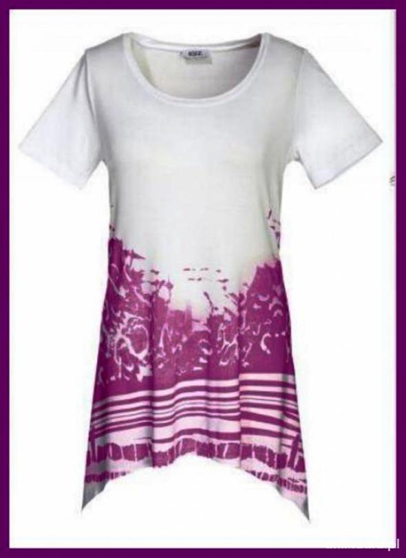 Modna asymetryczna bluzka Tshirt dwa kolory