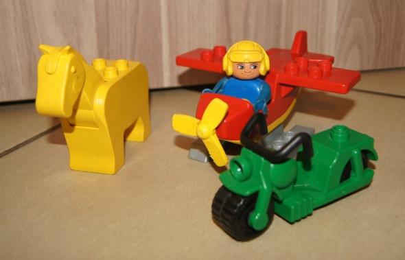 Lego Duplo figurka samolot koń klocki zestaw