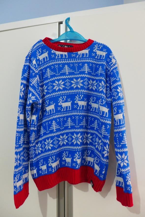 Świąteczny sweterek na 78 lat rozm 122128