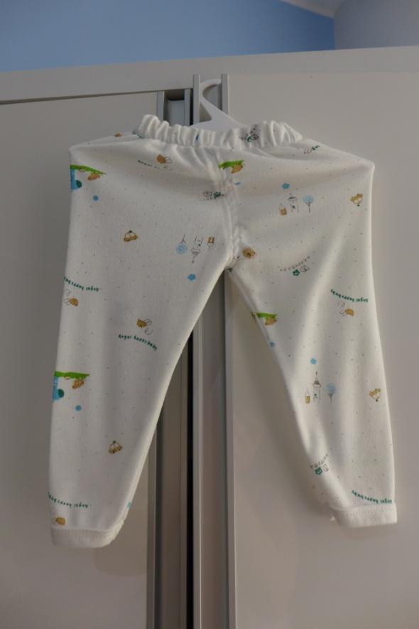 Śliczne legginsy spodenki 0 do 3 mce rozm 56