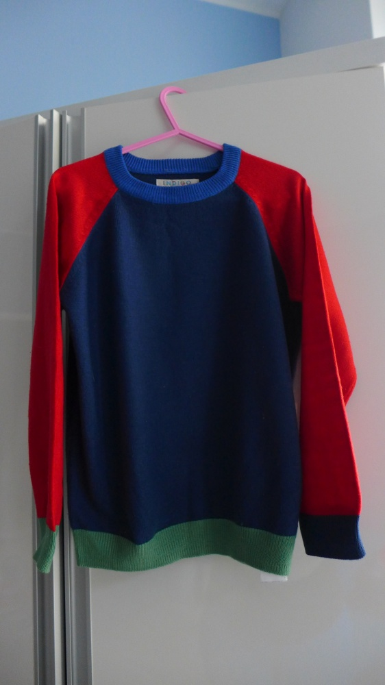 Kolorowy sweterek INDIGO 4 do 5 lat