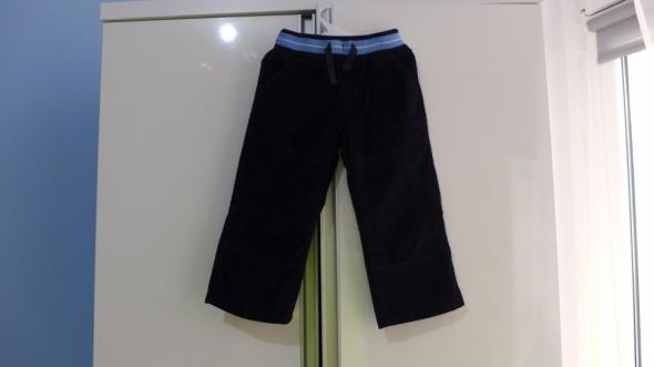 Granatowe sztruksowe spodnie Dunnes Stores rozm 86 na 1218 mcy...
