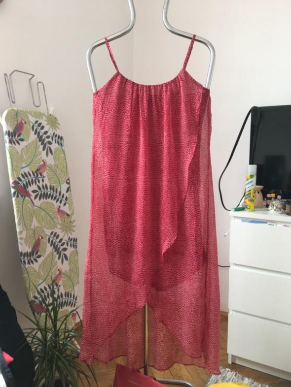 Czerwona sukienka h&m asymetryczna rozm 36