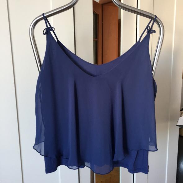 Modrakowa koszulka na naramkach Gina Tricot rozm 40
