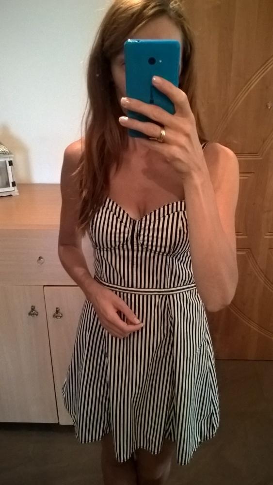 Sukienka w paski H&M S M