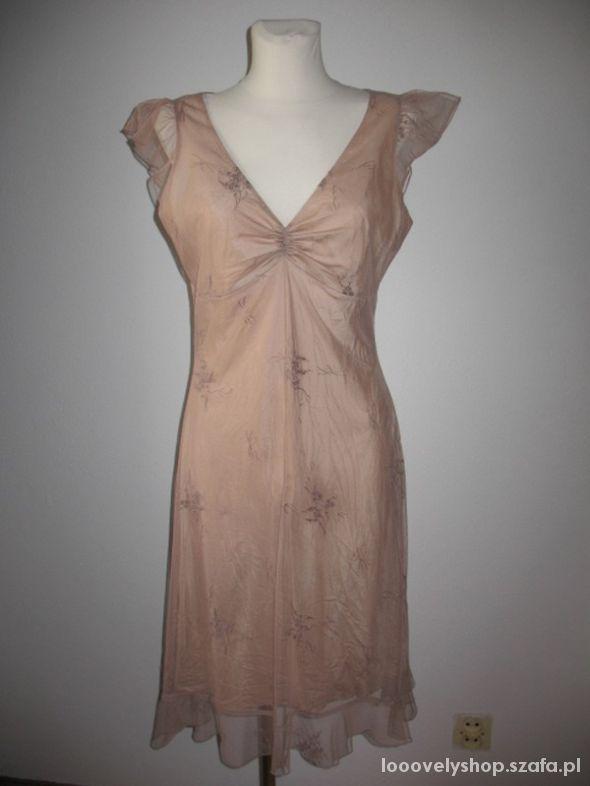 Sukienka mgiełka nude...