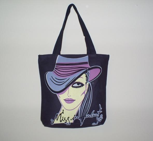 Nowa materiałowa torebka kapelusz
