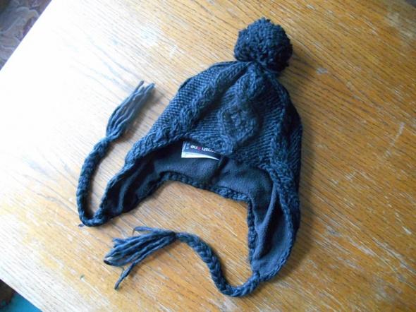 czapka 110 134 Pilotka czarna z warkoczami 5 9 lat