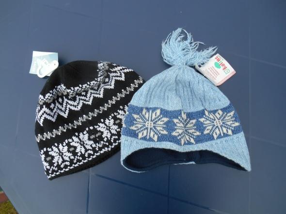Nowe czapki 110 134 na 5 do 9 lat dla dziewczynki