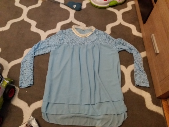 Niebieska elegancka bluzka koszula