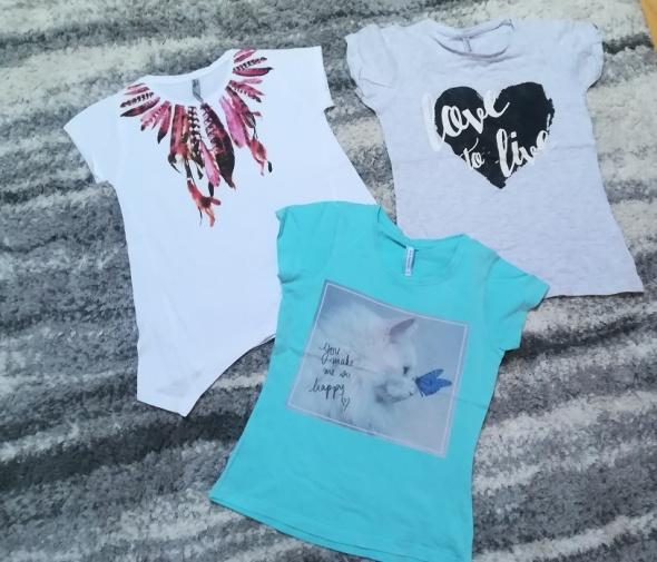 Komplet 3 firmowych koszulek z aplikacjami