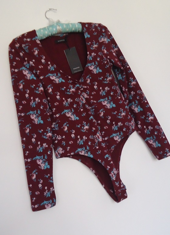 body Reserved kwiaty bordo 36 38