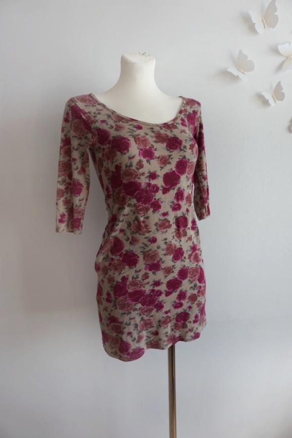 Sukienka bez pleców floral S