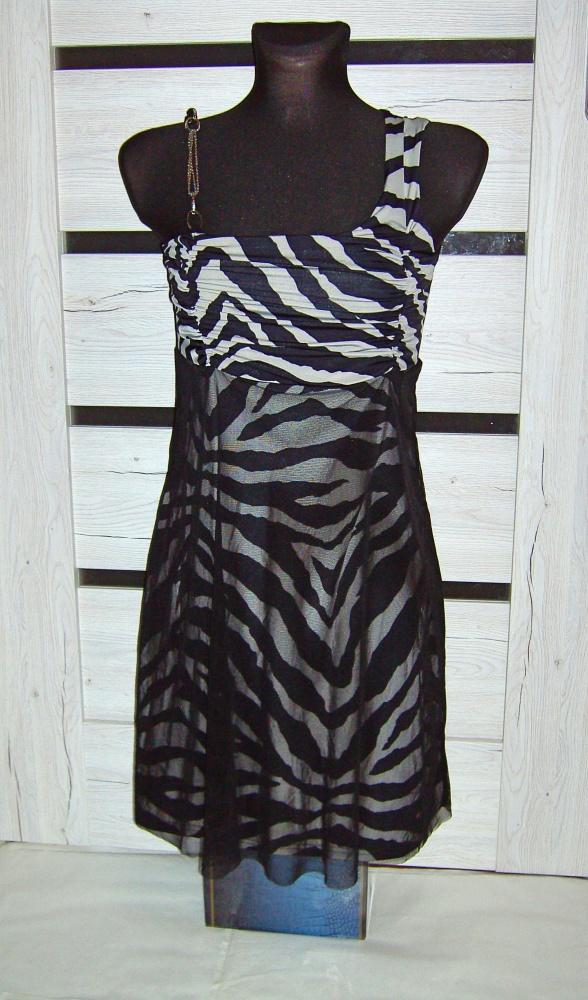 Sukienka szara zebra S M...