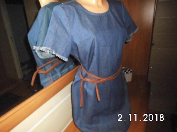 prosta sukienka dżinsowa