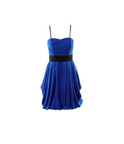 Sukienka H&M chabrowa niebieska granat bombka XS