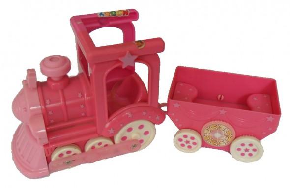 Pociąg plastikowy różowy dla dzieci Barbii