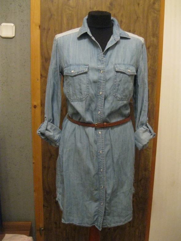 sukienka szchmizjerka jeans ESPRIT 36 niebieska