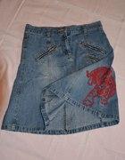Jeansowa z zipami...