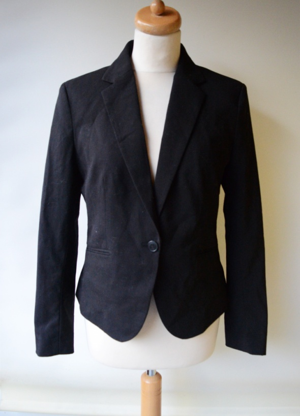 Marynarka Czarna H&M XL 42 Blezer Elegancka Pracy