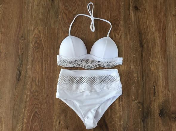 Bikini push up z wysokim stanem koronka s