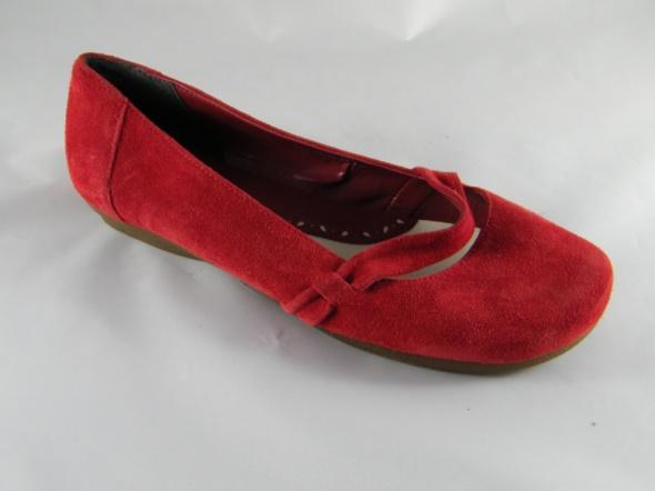 Footglove Skórzane czerwień