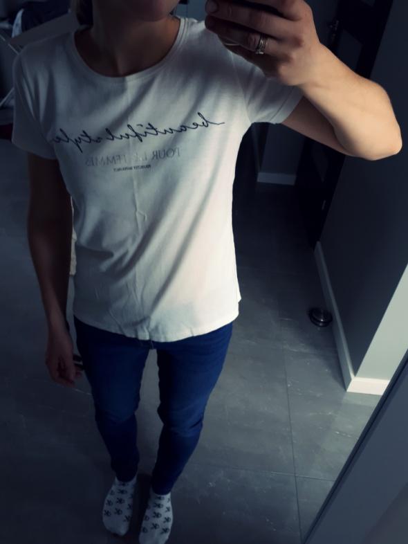 Ekstra koszulka t shirt Napisy NUDE
