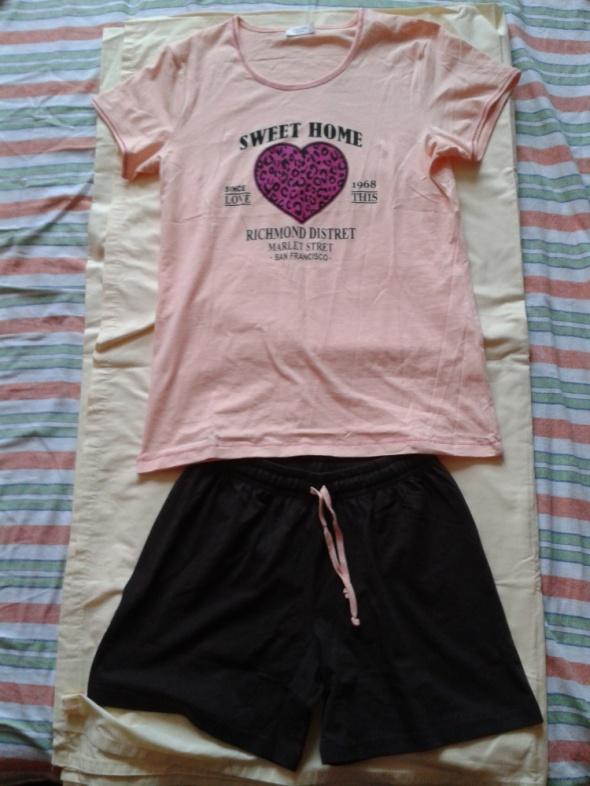 Piżama piżamka koszulka i szorty spodenki 36 większe S 38 M nowa