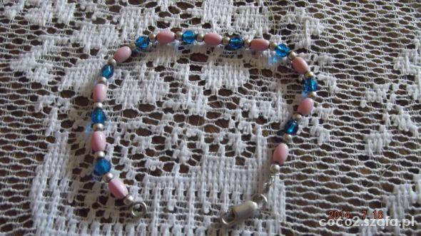 Srebrna bransoletka z koralikami