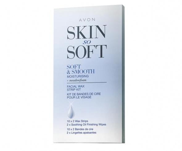Zestaw plastrów z woskiem do depilacji twarzy Avon