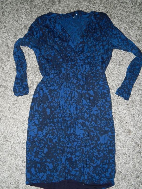 sukienka mazana niebieska