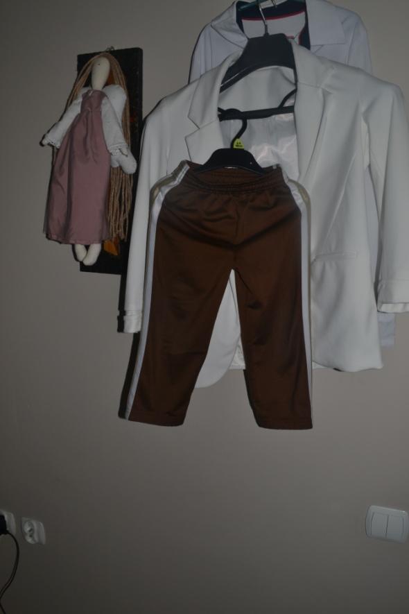 Dresowe spodnie czekoladowe